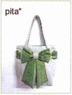 tas kain goni - pita hijau muda
