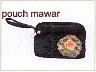 tas kain goni - pouch mawar